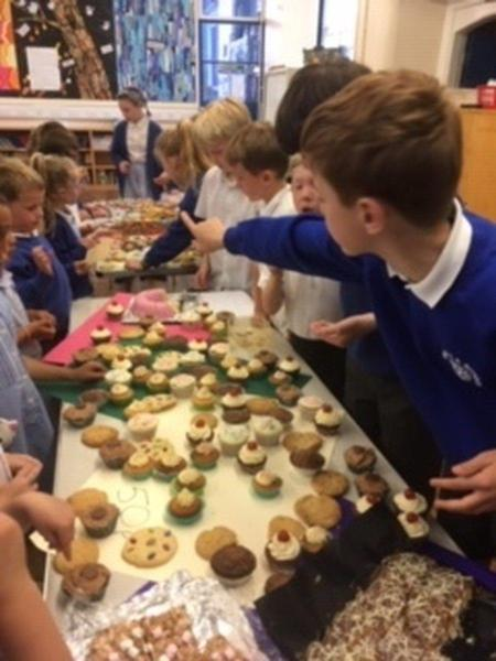 School Council fundraising cake sale