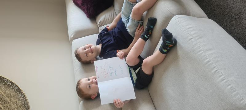 Harvey gave his brother a sorry card for RE