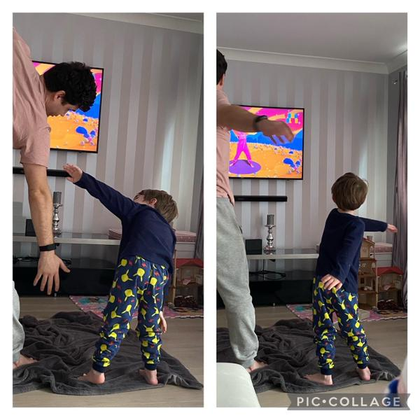 Harrys yoga with daddy