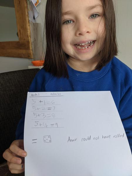 Leais completed the maths challenge