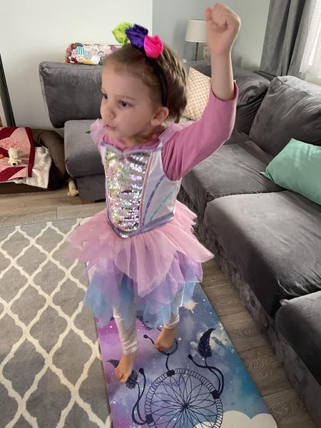 Princess Evie doing PE