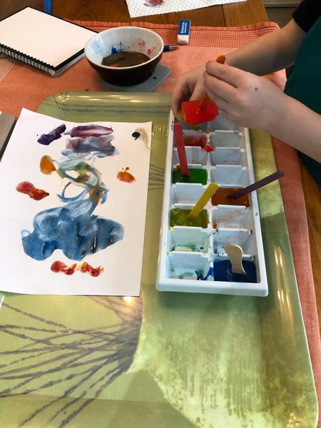 Harveys ice cube painting