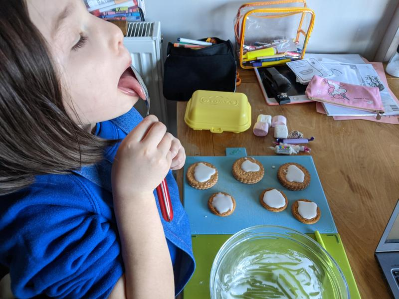 Leias biscuit making for topic