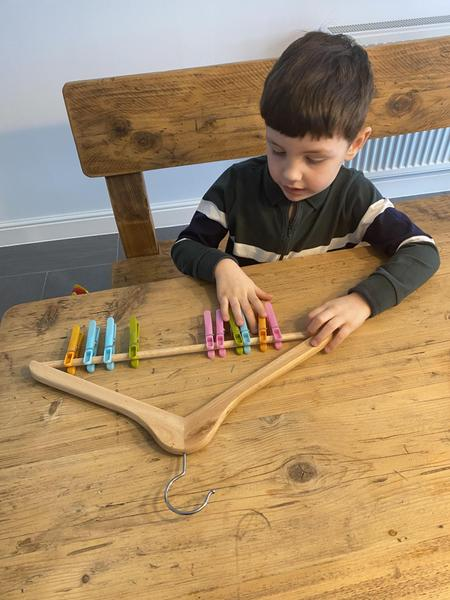 Freddie combining 2 groups for maths