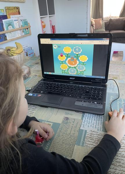 Evie completing teach my monster to read