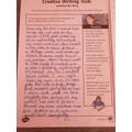 Some fabulous creative writing by Mya!