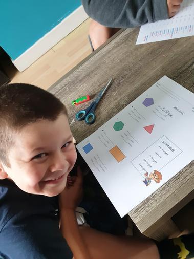 Ollie's fantastic work on 2D shapes!