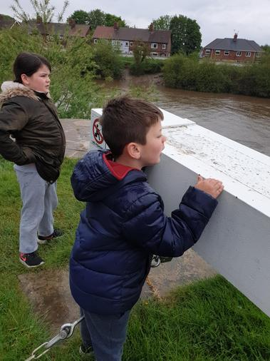 Ollie learning how to be a Lock-keeper!