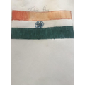 Caleb has worked hard observing India's flag!