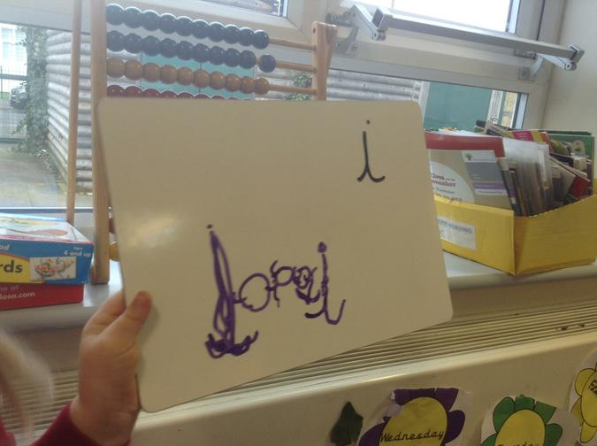 Using dances to support letter formation.