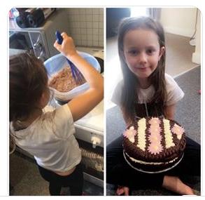 Tia's patisserie-style chocolate and vanilla cake!