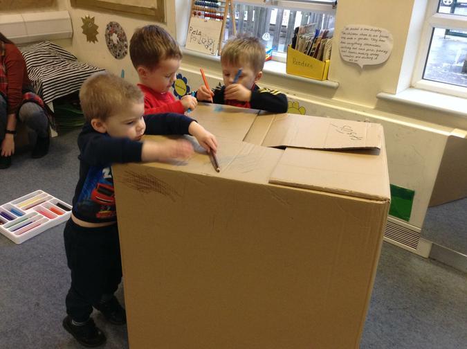 We loved the huge box!