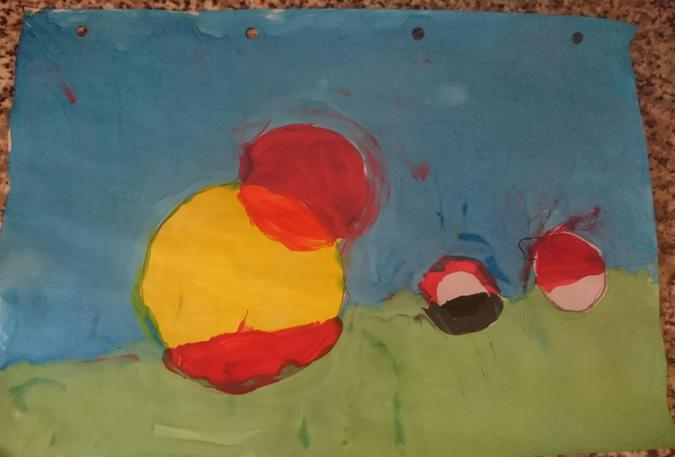 Annabelle's Circle abstract painting by Bruce Gray