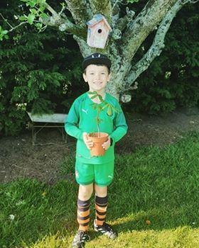 Leo planted a European Horse Chestnut tree!