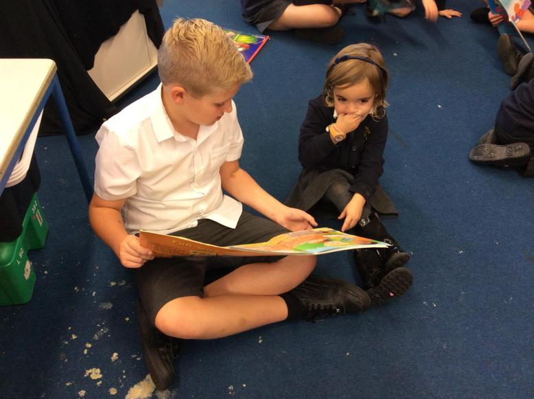Buddy reading during book week
