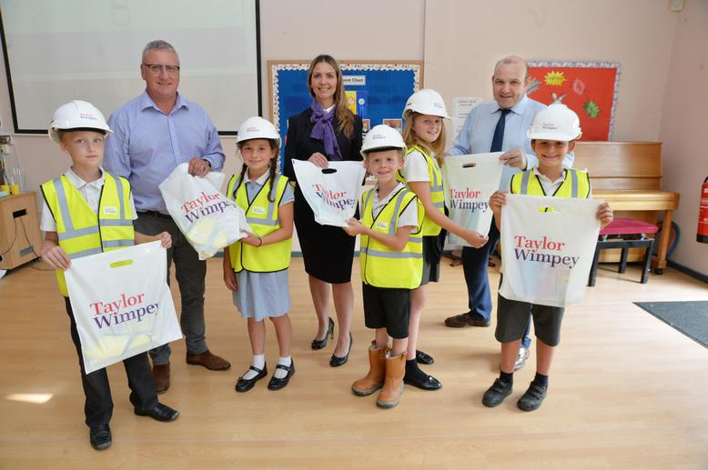 Taylor Wimpey safety talk and goody bags