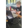 He is working hard!