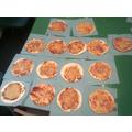 Acorns pizzas