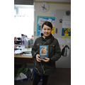 Year 6 winner - Rosie dressed as Katniss