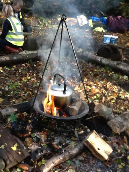 Fire = hot chocolate!