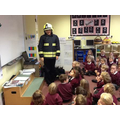 Explaining about fire safety