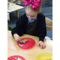 Decorating our Gingerbread men and ladies