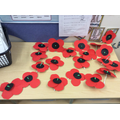 Our Poppies we made for Remembrance Day!