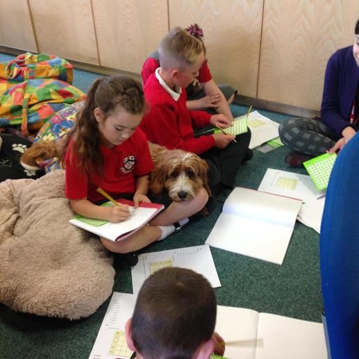 Harry helping with Year 3 work this morning!