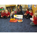 We looked at the fruits from the story