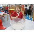 Noemi enjoys baking