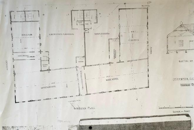 Copy of original plans for the school