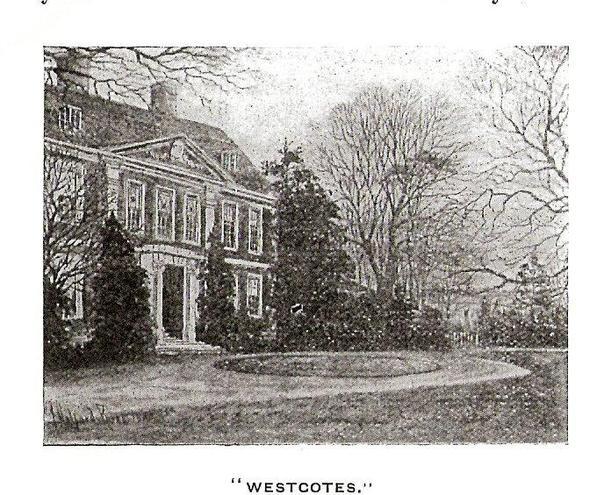Westcotes House circa 1730