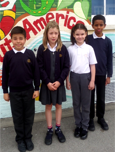 Some of our children looking very smart, wearing the Shaftesbury school uniform.