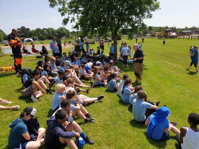 Water safety demonstration by Leicestershire Fire Service