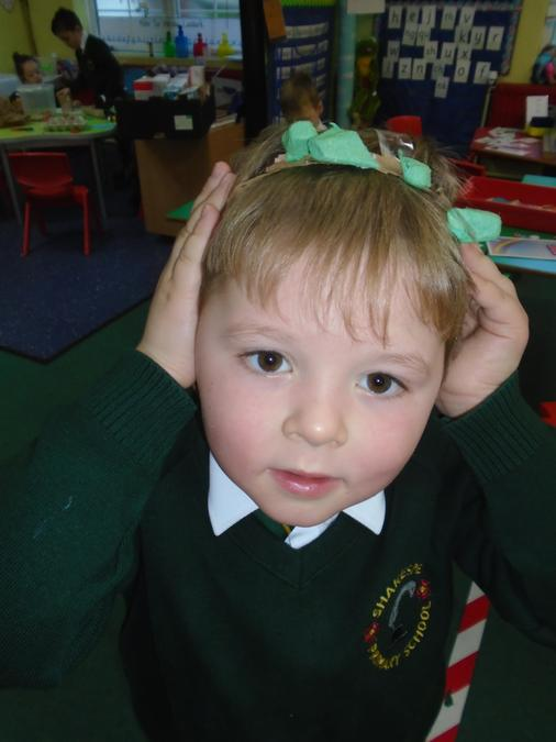 Look Miss Hayton, my dinosaur horns!