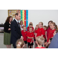 Prince Edward talking to pupils