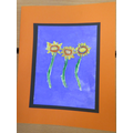 Pastel and paint - Spring Flowers with Mrs Radford