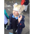 We had fun going on a Listening walk with our big Listening ears