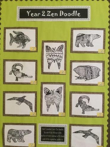 Year 2 Zen Doodles artwork
