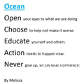 Melissa wrote an acrostic poem