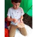 Daniel (C5) had a go at cord winding