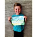 Alexander made the wonderful ocean scene
