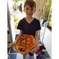 Henry (C5) made a brilliant Viking shield pizza!