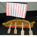 Melissa (C5) made a Viking longboat