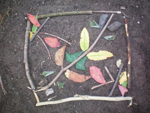 Creating symmetry! There is so much symmetry in the outdoors!