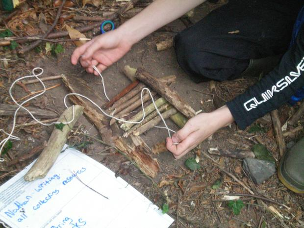 How did people get to other countries 1000 years ago? They build rafts! All year 5 were given was a piece of string! How did they use their teamwork skills to create a raft that would float and carry our little character?