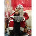 Souhaill meeting Santa.