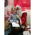 Alexia meeting Santa.