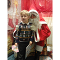 Austin meeting Santa.
