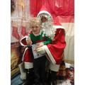Isaac meeting Santa.